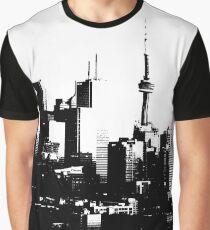 Toronto City Skyline Black and White Graphic T-Shirt