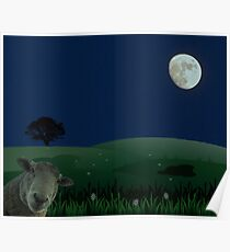The Moon (don't mention the sheep)  Poster
