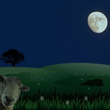The Moon (don't mention the sheep)  by trish1004