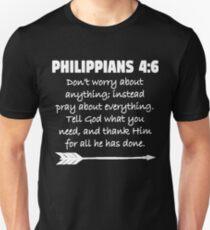 Philippians 4:6 Christian Bible Verse Scripture Design  Unisex T-Shirt