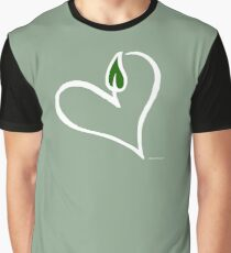 Cute Vegan Heart T-Shirt Graphic T-Shirt