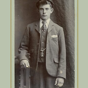 Valentine's Card: 19th Century Visiting Card-Young Male by MADEBYCATHERINE
