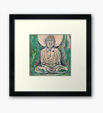Turquoise Buddha Framed Print