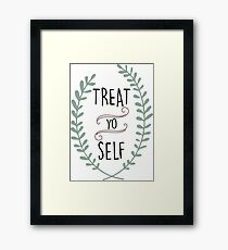 Treat Yo Self - Tom Haverford Framed Print