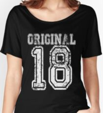Original 18 2018 1918 T-shirt Birthday Gift Age Year Old Boy Girl Cute Funny Man Woman Jersey Style Women's Relaxed Fit T-Shirt