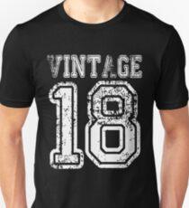 Vintage 18 2018 1918 T Shirt Birthday Gift Age Year Old Boy Girl Cute Funny