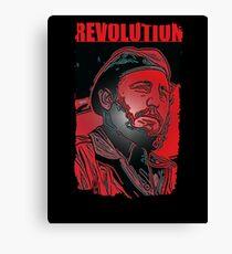 Fidel Castro revolt  Canvas Print