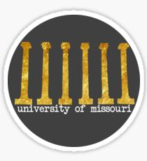 mizzou circle columns Sticker