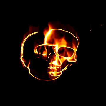 Flaming Skull by erichristy