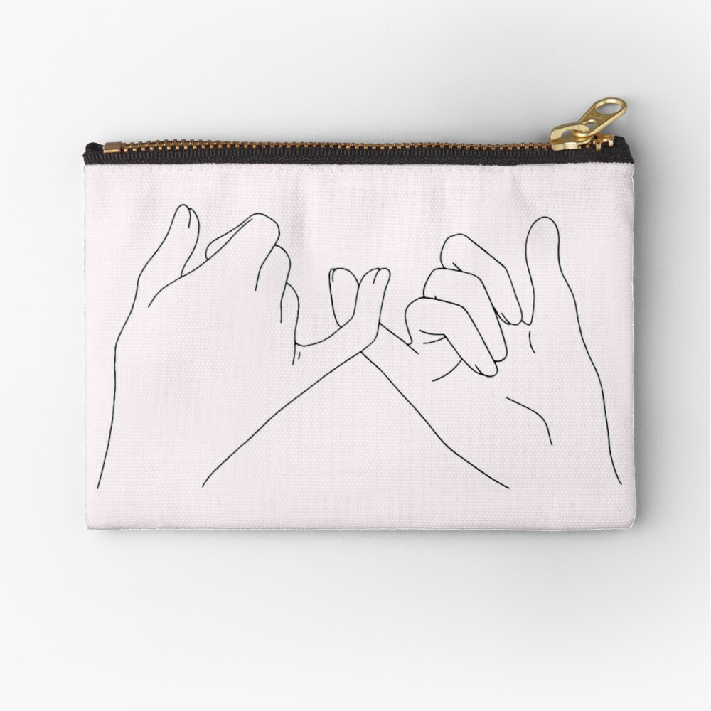 pinky promise Zipper Pouch