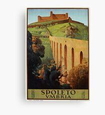 Vintage Spoleto Umbria 1920s Italian travel ad  Canvas Print