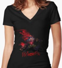 Warwick, the Uncaged Wrath of Zaun Women's Fitted V-Neck T-Shirt