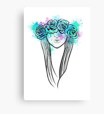 Elegant Mask - Light Background Canvas Print
