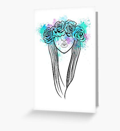 Elegant Mask - Light Background Greeting Card