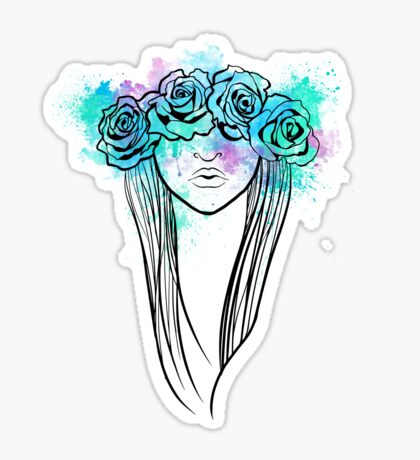Elegant Mask - Light Background Sticker
