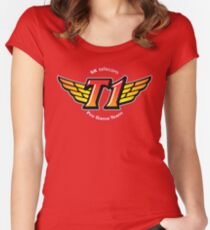SKT T1 Logo (best quality ever) Women's Fitted Scoop T-Shirt