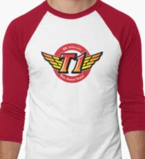 SKT T1 Logo (best quality ever) Men's Baseball ¾ T-Shirt