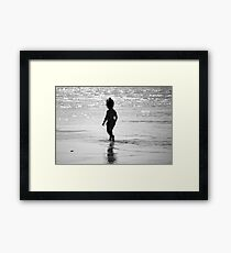 Child Walking Framed Print