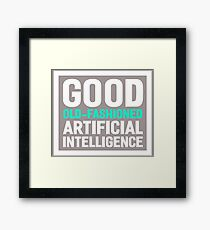 Good old-fashioned AI,white font Framed Print