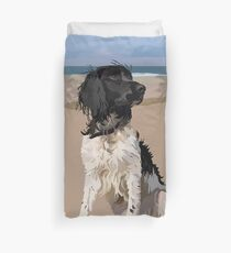 A day on the beach as a dog Duvet Cover