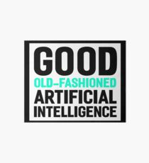 Good old-fashioned AI, black font Art Board