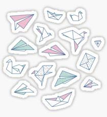 Origami soup Sticker