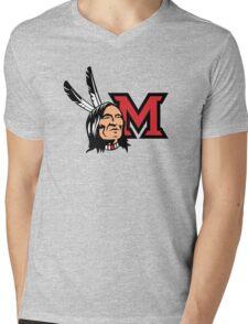 Miami Redskins Mens V-Neck T-Shirt