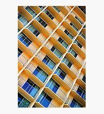 Scratchy Hotel Facade Photographic Print