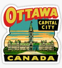 Ottawa Ontario Canada Vintage Travel Decal Sticker