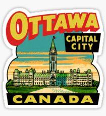 Ottawa Ontario Canada Vintage Travel Decal Sticker