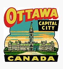 Ottawa Ontario Canada Vintage Travel Decal Photographic Print