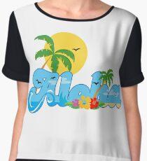 Aloha Hawaii T-Shirt Hawaiian Paradise Beach Sun Sand TShirt Chiffon Top