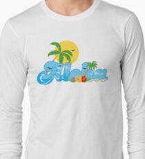 Aloha Hawaii T-Shirt Hawaiian Paradise Beach Sun Sand TShirt Long Sleeve T-Shirt