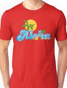 Aloha Hawaii T-Shirt Hawaiian Paradise Beach Sun Sand TShirt Unisex T-Shirt