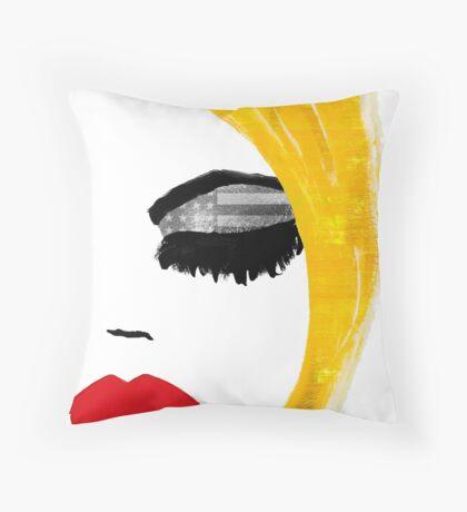 American Girl Throw Pillow