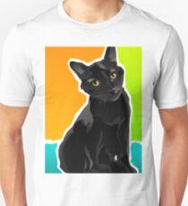 SALOM - Domestic Shorthair Black Cat Unisex T-Shirt