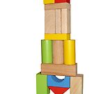 Wooden cubes rocket by sattva