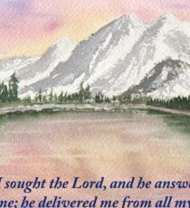 God's Peace- Psalm 34:4 Sticker