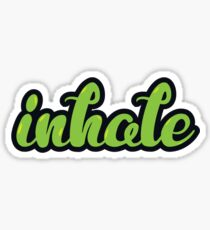 inhale Sticker