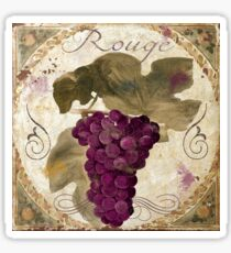Tuscan Table Rouge Wine Grapes Sticker