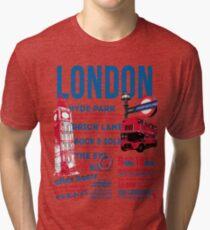 London Infographic Tri-blend T-Shirt