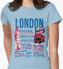 London Infographic Womens Fitted T-Shirt