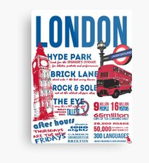 London Infographic Metal Print