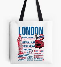 London Infographic Tote Bag