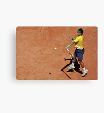 Forehand stroke (Rafael Nadal) Canvas Print