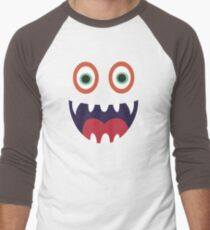 Cool Happy Monster Face T-shirt Cute Smily Face Kids Tshirt Men's Baseball ¾ T-Shirt