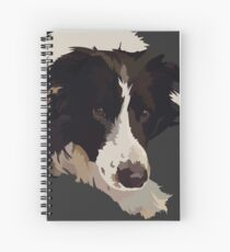 Border Collie patiently waiting Spiral Notebook