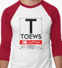 Retro CTA sign Toews Men's Baseball ¾ T-Shirt