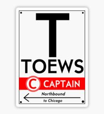 Retro CTA sign Toews Sticker