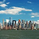 City - New York NY - The New York skyline by Mike  Savad
